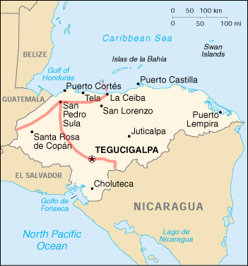 Trajet au Honduras