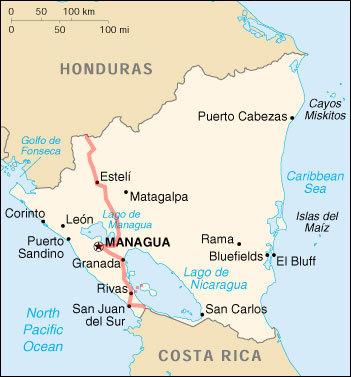 Trajet Nicaragua
