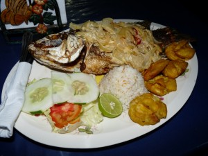 Bon poisson du lac Nicaragua
