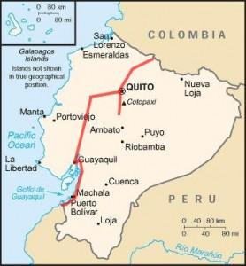 Notre itinéraire en Equateur