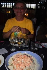 Poisson sauce crustacés